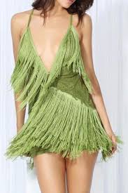 dayna lime green tassel plunge dress u2013 minnavanilla