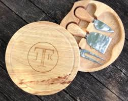 personalized cheese tray bamboo cheese set etsy