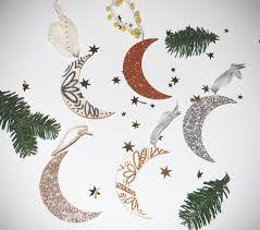 diy crescent moon ornaments flower crowns