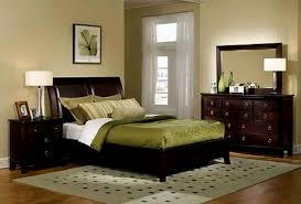 tagged color schemes for bedrooms with dark brown furniture
