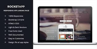 landing page templates for blogger rocket app responsive app landing page corporate landing pages