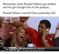 Russell Wilson Meme - remember when russell wilson got drafted and his girl thought she