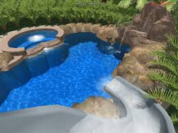 cool swimming pools with slides ideas pool design also