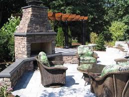 Backyard Patio Ideas Stone Brilliant Decoration Patio Fireplace Beauteous Corner Stone Patio