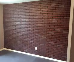 how to paint a faux brick wall gray house studio