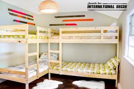 Wood Bunk Beds As Ikea Bunk Beds And Elegant Bunk Bed Building by Image Result For Four Beds In One Small Room Boy U0027s Room