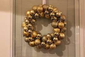 domesticated diva diy gold ornament christmas wreath