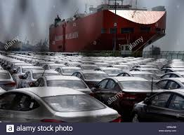hyundai vehicles new hyundai vehicles ready to be loaded onto a ship for export at