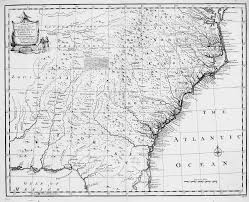 Map Of Florida And Georgia by South Carolina Colonial Maps