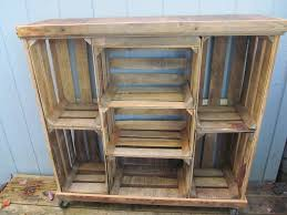 large crate bookshelves could add bins and baskets for my