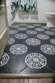 diy bathroom flooring ideas stencil the floor paint tile and add some sort of stencil onto