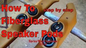 how to make a fiberglass subwoofer box 19 steps with pictures how to fiberglass speaker pods tweeter pods box chevy build