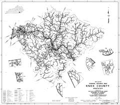 County Map Kentucky Knox County Maps