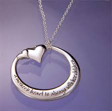 s heart remembrance necklace