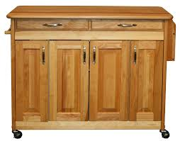 amazon com catskill craftsmen butcher block island with raised amazon com catskill craftsmen butcher block island with raised panel doors kitchen dining