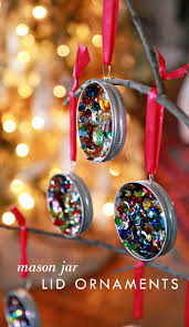 sequin mason jar lid ornaments ornament sequins and craft