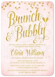 brunch bridal shower invitations gold brunch bubbly bridal shower invitations