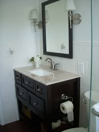 how to redo a bathroom sink daddy wants to redo bathroom i think large framed mirror smaller