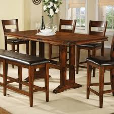butterfly dining room table dark cappuccino finish counter height dining table extension leaf