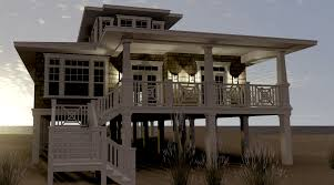 raised beach house plans small beach house plans on pilings stilts narrow cottage unique
