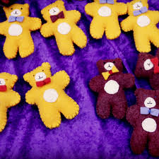 Teddy Bear Christmas Decorations by Handmade Felt Plush Handstitched Teddy Bear Christmas Ornaments