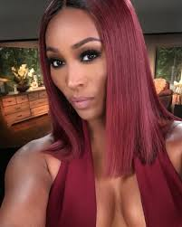 hair styles by cynthia bailey on rhwoa feeling this hairstyle cynthia bailey goes cranberry red for