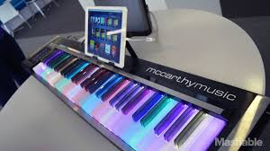 keyboard that lights up to teach you how to play learning the piano is more fun with the illuminating piano s flashy keys