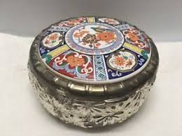 themed jewelry box asian themed ceramic lid trinket jewelry box roger s silver plate