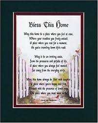 Gifts For House Warming Amazon Com Bless This Home A Housewarming Gift Present Poem 204