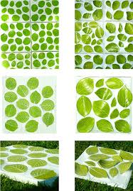 green leaves pattern for nature accent wall decor feature handmade