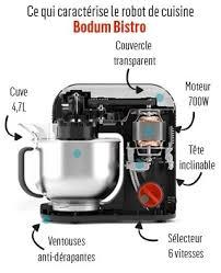cuisine bodum de cuisine électrique bodum bistro 11381 913 blanc crème 4 7l