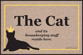 cat and housekeeping staff doormat funny doormats u2013 high cotton inc