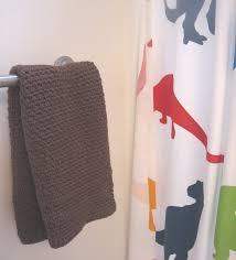 crochet hand towel hanger towel