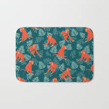 Zen Bath Mat Ape Painting And Zen Bath Mats Society6