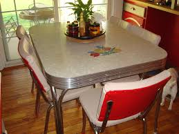 Diner Style Kitchen Table by Dining Table Bistro 50s Diner Chrome White Kitchen Breakfast