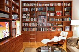 Natural Wood Bookcase Modern Luxury Private Soho Residence Design By Valerie Pasquiou