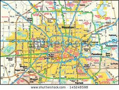 houston map buy houston map foil pressed print maps and globes