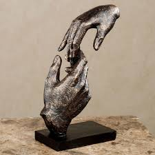 home sculptures loving hands table sculpture