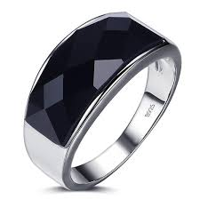 black stones rings images Black agate gemstone 925 sterling silver men 39 s ring just pay jpeg