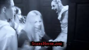 haunted house reactions at scarehouse youtube