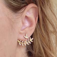 ear candy earrings leaf me alone sided ear jackets as seen on shefinds