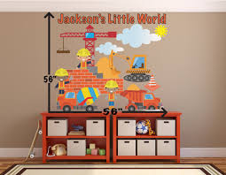 cement truck wall decals construction wall decals for boys zoom
