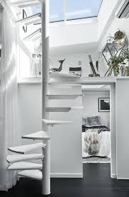 scandinavian skylights bright and airy loft apartment