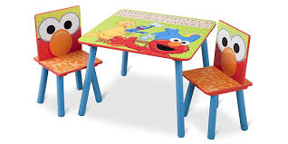 childrens plastic table and chairs amazon com delta children table chair set sesame street baby