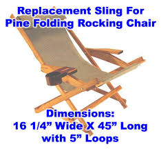 Folding Rocking Chair Pine Folding Rocking Chair Replacement Sling With Pillow