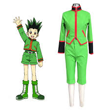 hunter x hunter gon freecss cosplay costume teen boy casual wear