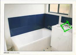 bathroom splashbacks shower screens wathaurong glass blue