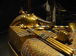the famed king tutankhamen sarcophagus egyptian museum cairo