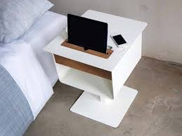 spell nomad nightstand table boasts integrated charging station