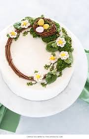 cake how to wreath cake